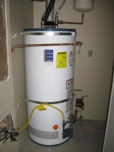 hot water tank maintenance drain